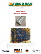 New Standard Galvanized Rolled Rail